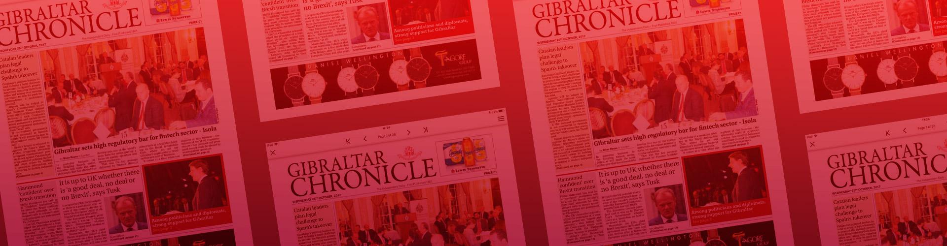 Header image of Gibraltar Chronicle